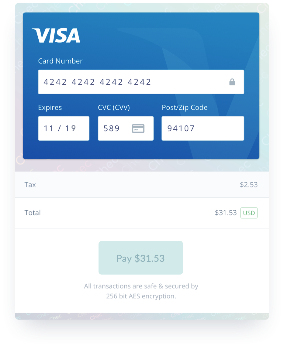 Image of Chec Platform hosted checkout